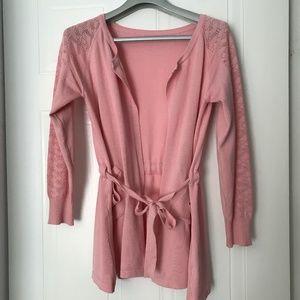Tops - Long sleeves pink cardigan